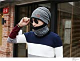 ニット帽 ネックウォーマー 2点セット メンズ レディース 男女兼用 ニット帽子 ニットキャップ Barsado(グレー)