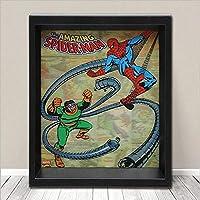 MARVEL マーベルアメリカン キャラクター 3-D シャドーボックス Spider-Man - Spidey vs Doc Ock アメリカンヒーローアメリカン雑貨アメリカ雑貨 アメ雑