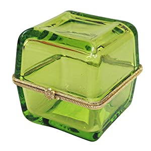 GLASS JEWELRY BOX GN 1C-199-GN