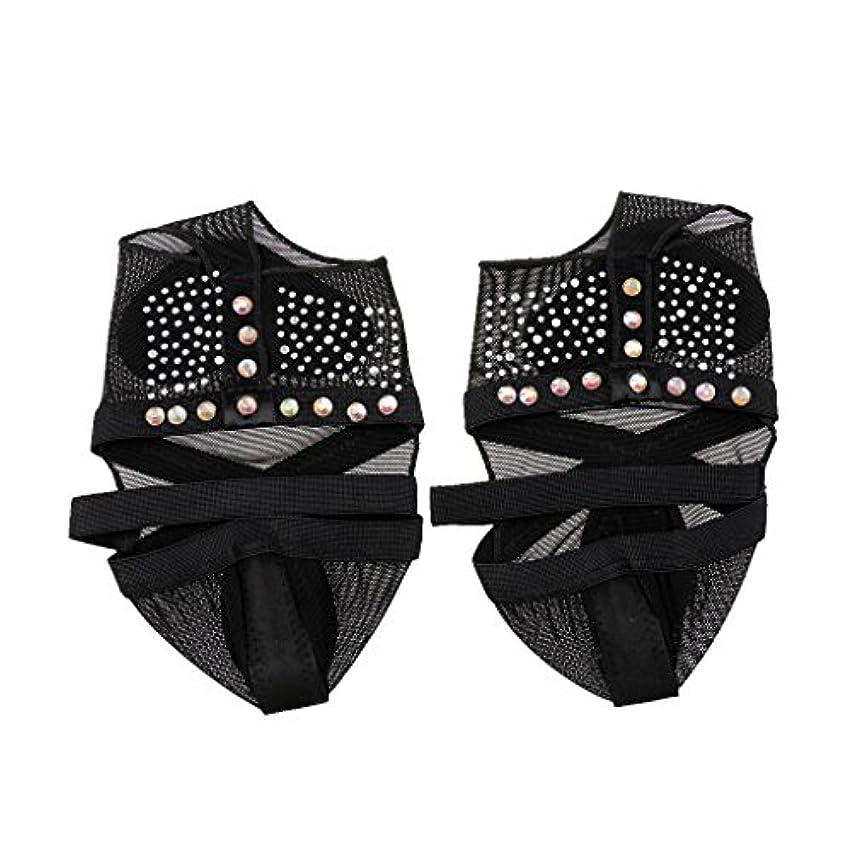 報奨金私たち自然公園sharprepublic 黒の女の子の女性のバレエ腹のジムの足ひもの靴の足の保護者 - L