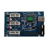 FUSHITON ライザーカード pcie 1 スイッチ乗数スプリッター 拡張アダプタ PCI-E 1X 1to3スロットpcieライザーカード USBケーブル PC周辺機器