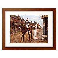 Kilburne, George Goodwin,1839-1924 「Collecting the Post.」 額装アート作品
