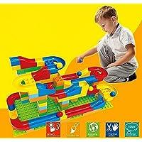 玉転がし 72pcs 入門セット 子ども 玉の道 組立て 積み木 おもちゃ 幼児 知育ラーニングトイ レゴブロックに合わせ By Baby Zone®
