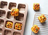 CHEFMADE マフィン型 ブラウニーパン スクエア型 ケーキ型 12ケ取 専用設計 粘りにくいカップケーキ型