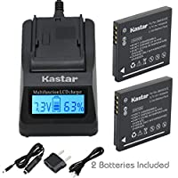 Kastar超高速充電器( 3 x Faster than the normal )キットとバッテリ( 2 - Pack ) for Panasonic DMW - bck7、nca-yn101g、de-a91、de-a92 Work with Panasonic Lumix DMC - dmc-fh2、dmc-fh4、dmc-fh5、fh6、fh25 fh27、、、fp5、dmc-fh7、fs16 fs18、fs22、fs28、fs35、fs37 fs40、fs45、ft20、dmc-ft25、fx77、dmc-fx78、fx80、dmc-fx90、s1、s2、s3、s5、sz1、dmc-sz5、sz7、dmc-ts20、dmc-sz25 [ポータブルUSB充電機能付き]