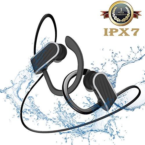 Bluetooth イヤホン 高音質 ブルートゥース イヤホン スポーツ ワイヤレス イヤホン 8時間連続再生 IPX7防水 iphone cvc6.0ノイズキャンセル ハンズフリー通話 Daping イヤフォン ヘッドホン 両耳 耳掛け ランニング スマホ二台接続支持 iPhone Android対応(ブラック)