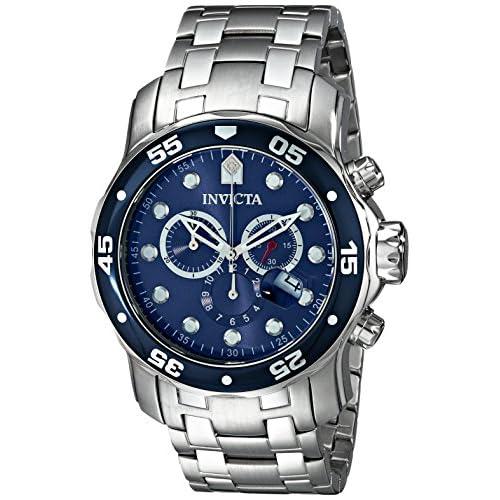 """腕時計 Invicta Men's 0070 """"Pro Diver Collection"""" Stainless Steel and Blue Dial Watch【並行輸入品】"""