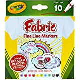 Crayola 10ct Fabric Markers Fine Line