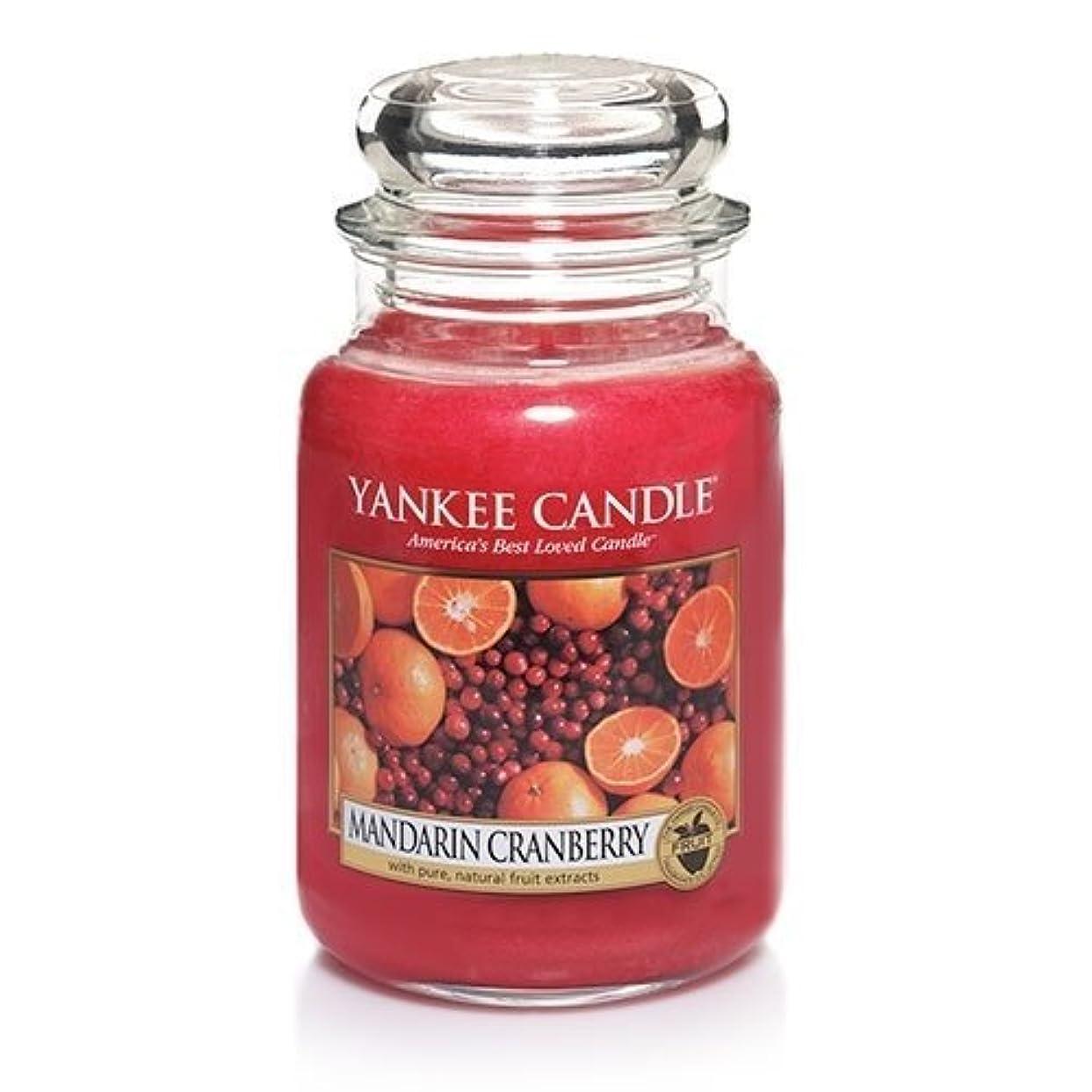 パッチ謙虚な注目すべきMandarin Cranberry Large Scented Jar by Yankee Candle [並行輸入品]