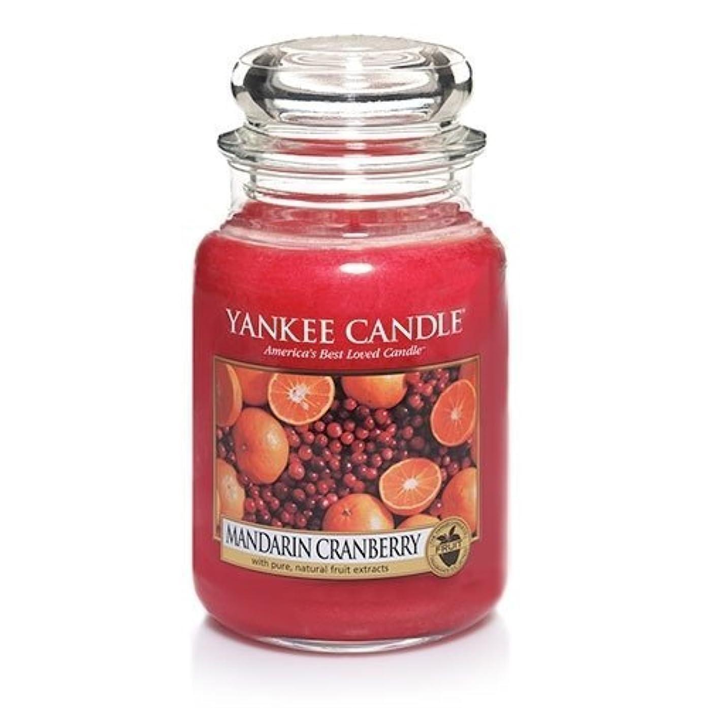 勃起社会科枯渇するMandarin Cranberry Large Scented Jar by Yankee Candle [並行輸入品]