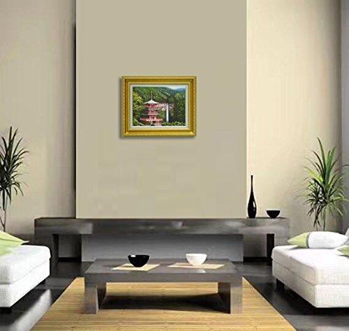 インテリア 絵画 F6 額 絵画フレーム アート絵画 油絵 インテリア アート 壁掛け インテリア 壁掛け 絵画 肉筆油彩 豪華額装。 … (「那智の滝」 肉筆油彩 F6)