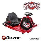Razor社製 Crazy Cart (クレイジーカート)ドリフト走行可能な小型電動カート (Red)