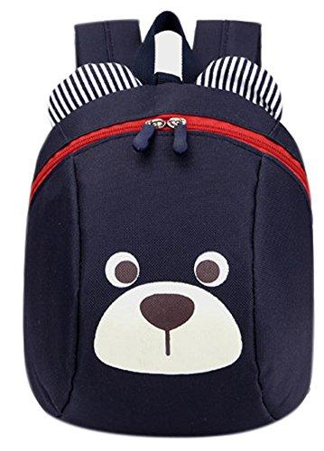 skyflyings かわいいクマのバックパックオックスフォードベイビーボーイズガールズスクールバッグ (黒)