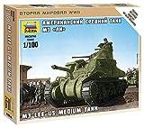 ズベズダ 1/100 アメリカ軍 中戦車 M3 リー プラモデル ZV6264