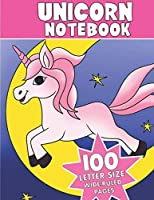 Unicorn Notebook: 100 Pages Wide-Ruled Journal with Unicorn Pictures