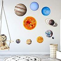 Putars ウォールステッカー発光惑星10ピース壁飾りデカール惑星の輝き、ルームステッカー用壁ステッカーデカールホーム保育園の装飾寝室の壁デカール