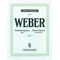 ウェーバー : 五重奏曲 変ロ長調 作品34 (クラリネット、ピアノ) ブライトコプフ出版