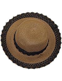 GETS(ゲッツ) 麦わら帽子 ストローハット ペーパーポケッタブルハット パナマ帽 中折れ ハット 折りたたみ可能 洗える帽子 女優帽 リボン付き つば広 UVカット 旅行 ゴルフ 春 夏 秋 アウトドア レディース