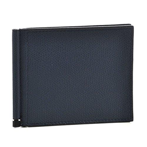 Valextra(ヴァレクストラ) 財布 メンズ グレインレザー 2つ折り財布 ネイビー V0L80-028-000URD [並行輸入品]
