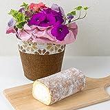新杵堂 お花と選べるロールケーキのセット スーパースターロール