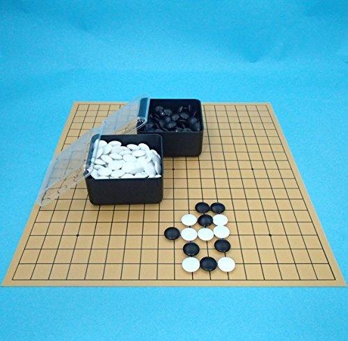 囲碁セット 塩ビの碁盤とプラ...