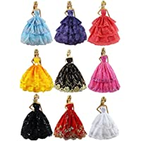 6 Pcsファッションハンドメイド結婚パーティーガウンドレス& Clothes forバービー人形Xmasギフト