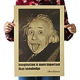 Tmrow 装飾塗装 印刷画像 クラフト紙レトロポスター Einstein Avatar