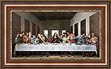 (v03–01–07–10–12) Leonardo da Vinci The_最後_晩餐_フレーム_キャンバス_ Giclee_プリント_ w43_ X h22 >[Small] #06-Brown/Gold V03-01F-MD393-03