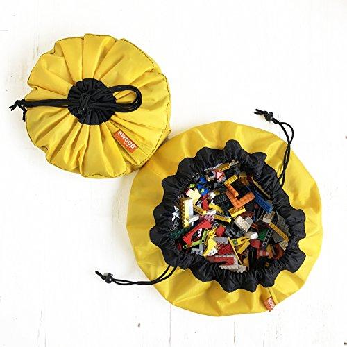 "Swoop Miniポータブルおもちゃストレージバッグ、イエロー、16""–Ideal For整理Legoピース"