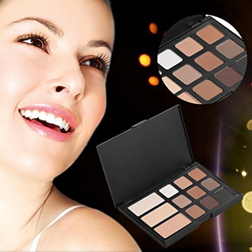 CUTICATE 12色のアイシャドウの眉毛パレットメイクアップ美容化粧品セットキット