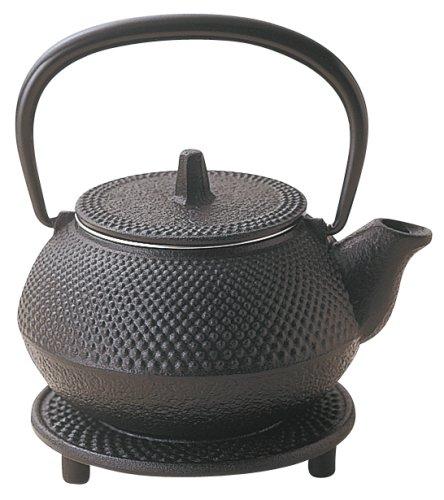 RoomClip商品情報 - 岩鋳(Iwachu) 茶釜 黒焼付 0.32L 南部鉄器 鉄瓶兼用急須 3型新アラレセット 16105