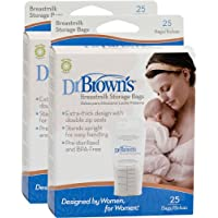 Dr. Brown's Breastmilk Storage Bags, 25 Count (Set of 2) by Dr. Brown's