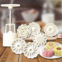 6+ 1中国花パターンMooncake型キャンディパイナップルケーキクッキーDIYベーキング金型