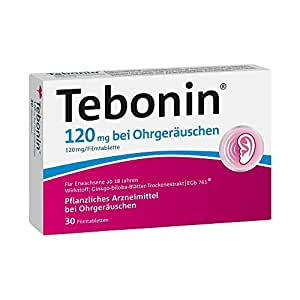 Tebonin 120 mg Film Coated Tablets for Ringing Ears 30 Tablets by Dr. Willmar Schwabe GmbH & Co. KG