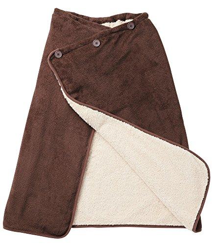 HOTαアルミの暖力 腰巻きケット ブラウン