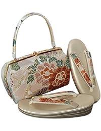 [ 京都きもの町 ] 草履バッグセット 礼装用 Lサイズ ピンク段ぼかし 牡丹 菊花 フォーマル <T>