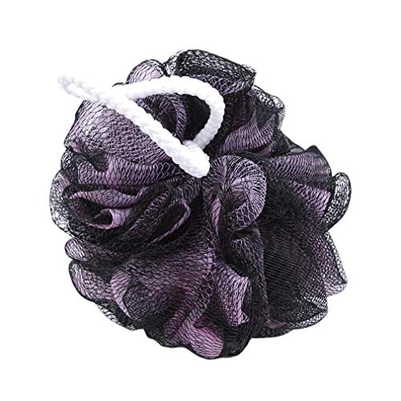 連鎖レンドローブ火の色 ボディウォッシュボール ボディ用お風呂ボール 花形 泡立てネット 超柔軟 ベージュ ふわわん シャワー用 上品 黒粉