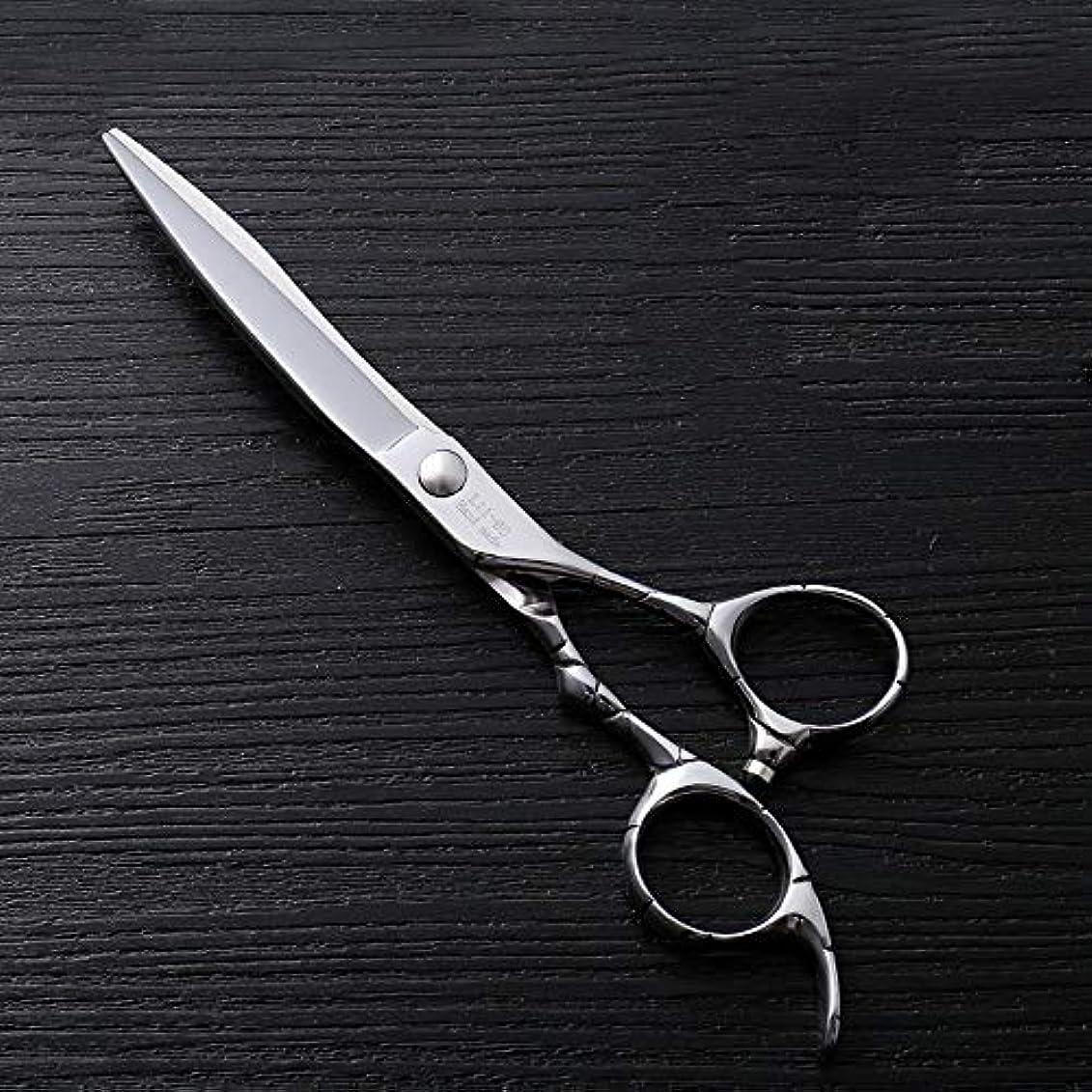 申し立てられたホイスト読みやすさ6インチファイントリムプロフェッショナルフラットシアハイエンドステンレスフラット理髪はさみ モデリングツール (色 : Silver)