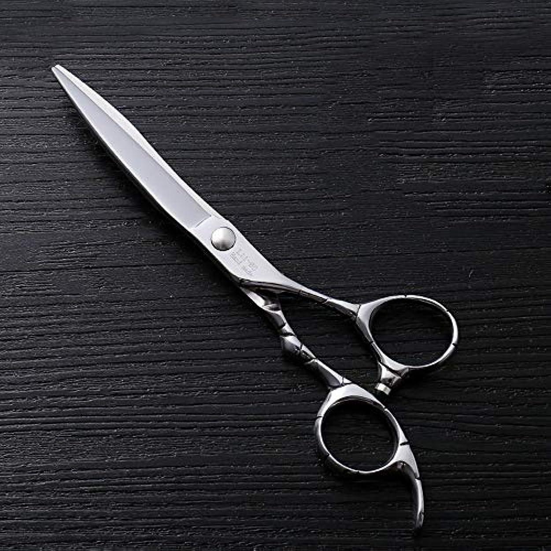 息苦しいスナッチ評論家理髪用はさみ 6インチファイントリムプロフェッショナルフラットせん断ハイエンドステンレススチール理髪はさみヘアカットシアーステンレス理髪はさみ (色 : Silver)