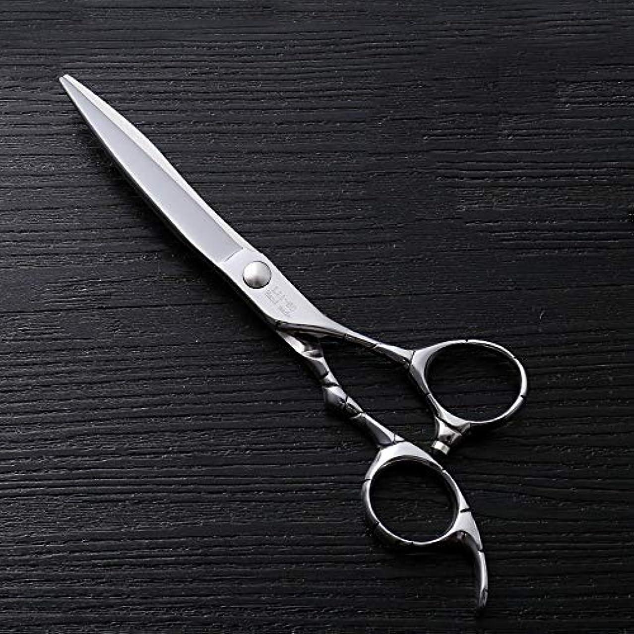 排気知覚的ブラウズ6インチファイントリムプロフェッショナルフラットシアハイエンドステンレスフラット理髪はさみ モデリングツール (色 : Silver)