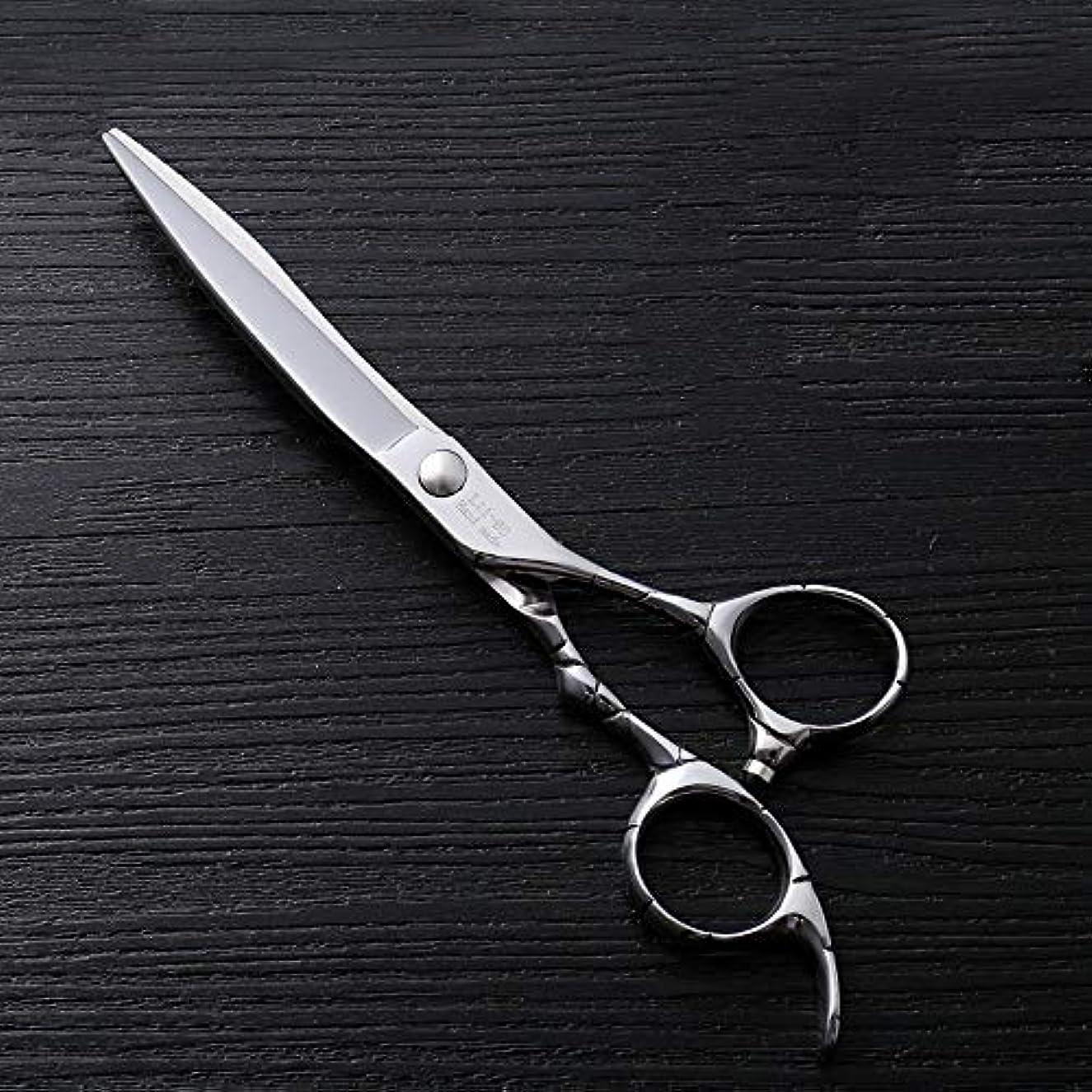 どこにもリンク最初にHairdressing 6インチファイントリムプロフェッショナルフラットせん断ハイエンドステンレススチール理髪はさみヘアカットシアーステンレス理髪はさみ (色 : Silver)