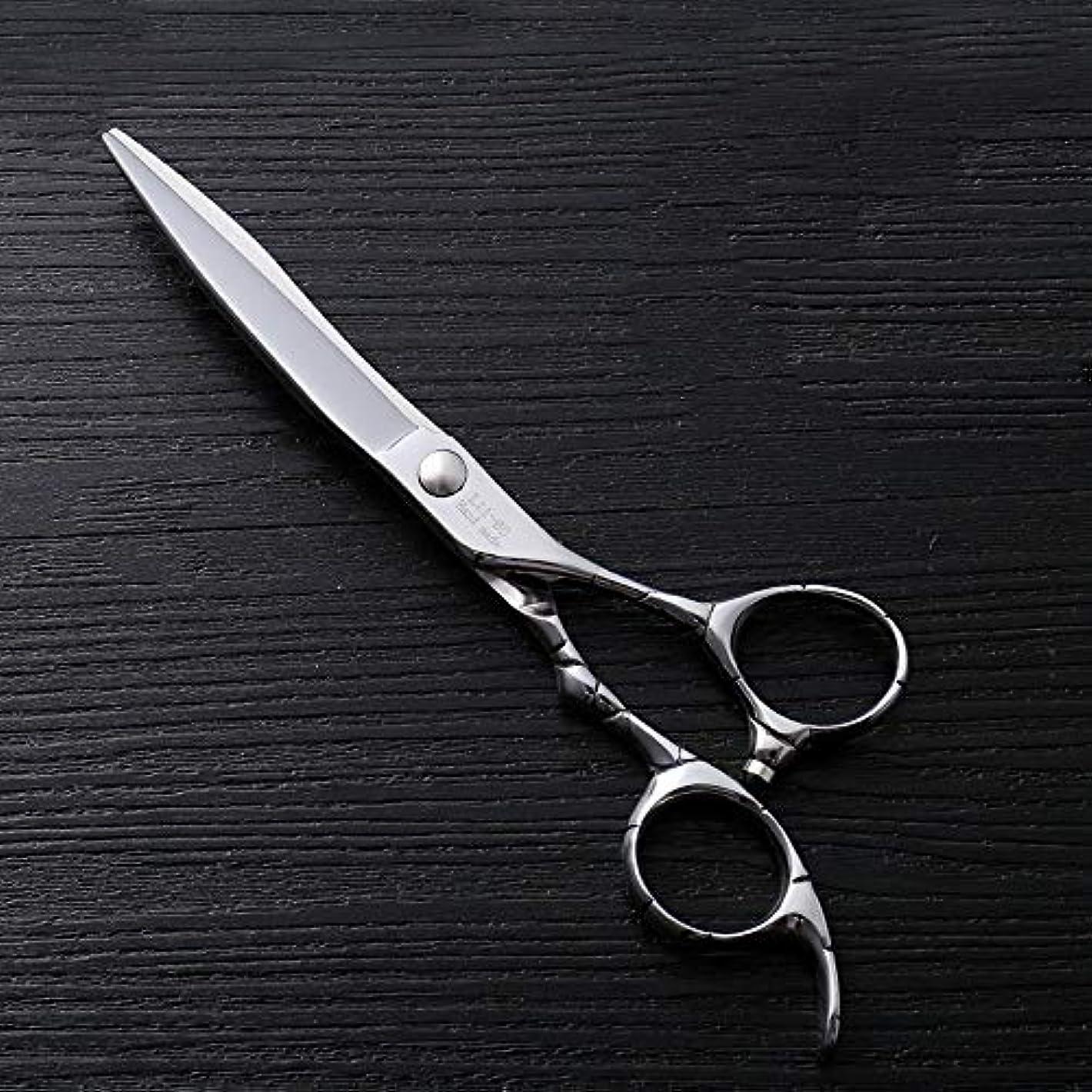 キャンベラ深く無秩序理髪用はさみ 6インチファイントリムプロフェッショナルフラットせん断ハイエンドステンレススチール理髪はさみヘアカットシアーステンレス理髪はさみ (色 : Silver)