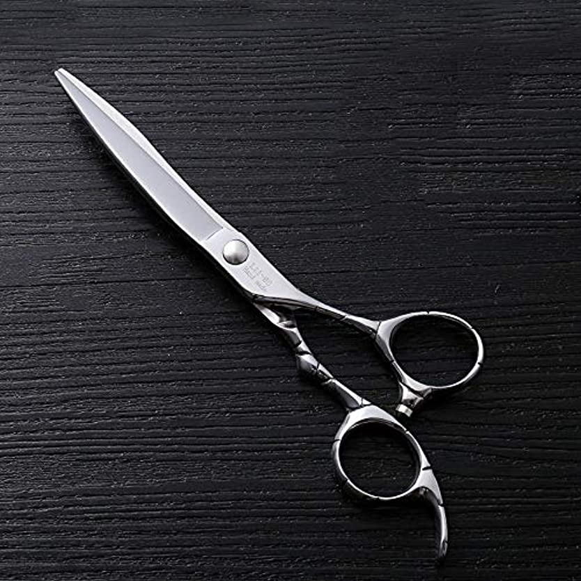 筋是正するシーフード理髪用はさみ 6インチファイントリムプロフェッショナルフラットせん断ハイエンドステンレススチール理髪はさみヘアカットシアーステンレス理髪はさみ (色 : Silver)