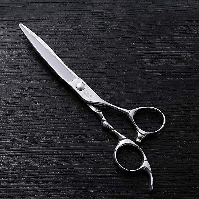 危険にさらされているリットルアンデス山脈6インチファイントリムプロフェッショナルフラットシアハイエンドステンレスフラット理髪はさみ ヘアケア (色 : Silver)