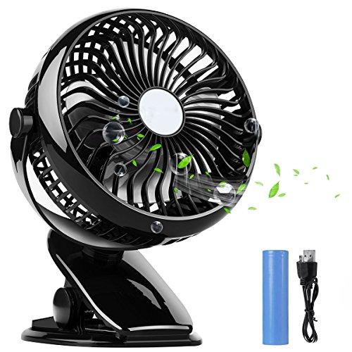 扇風機 小型 扇風機DOOFEEクリップ式扇風機 卓上 扇風...