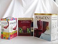 ワインセット 大容量飲み比べセット(サンタ・レジーナ カベルネ・ソーヴィニヨン 赤ワイン フルボディ3000ml アルマデン クラシック カリフォルニア レッド 赤