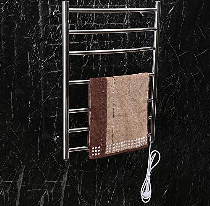 漏斗柔らかいイル304ステンレス鋼の電気タオル掛け、65W壁に取り付けられたスマートな電気タオルのラジエーターの家のホテルの浴室の棚、700X520X125mm
