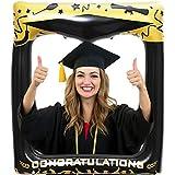 LUOEM 卒業式用インフレータブル写真フレーム 卒業写真用小道具 ブローアップ写真ブース小道具 卒業式用装飾アクセサリー 誕生日 結婚パーティー 72 x 61cm