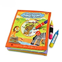 Water Doodle Drawing Coloring Cloth Activity Book with Magic Pens Animals & Ocean Creatures (Animal Kingdom) [並行輸入品]