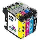 【在庫一掃】ブラザー brother LC111 4色セット 汎用・互換 インクカートリッジ 4色パック LC111-4PK